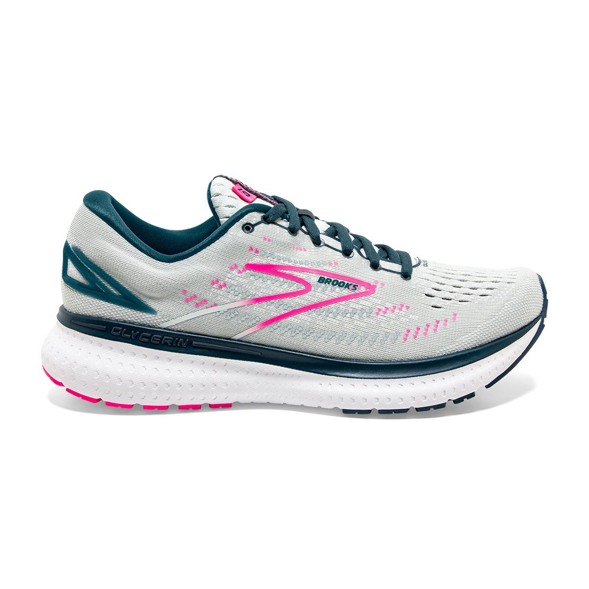 Women's Brooks Glycerin 19 Running Shoe - Color: Ice Flow/Navy - Size: 5 - Width: Regular, Ice Flow/Navy, large, image 1