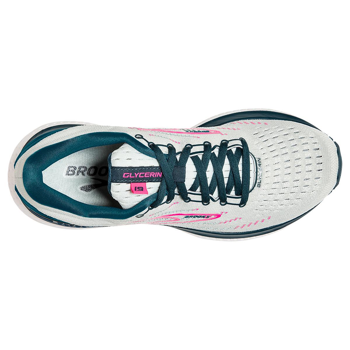 Women's Brooks Glycerin 19 Running Shoe - Color: Ice Flow/Navy - Size: 5 - Width: Regular, Ice Flow/Navy, large, image 2