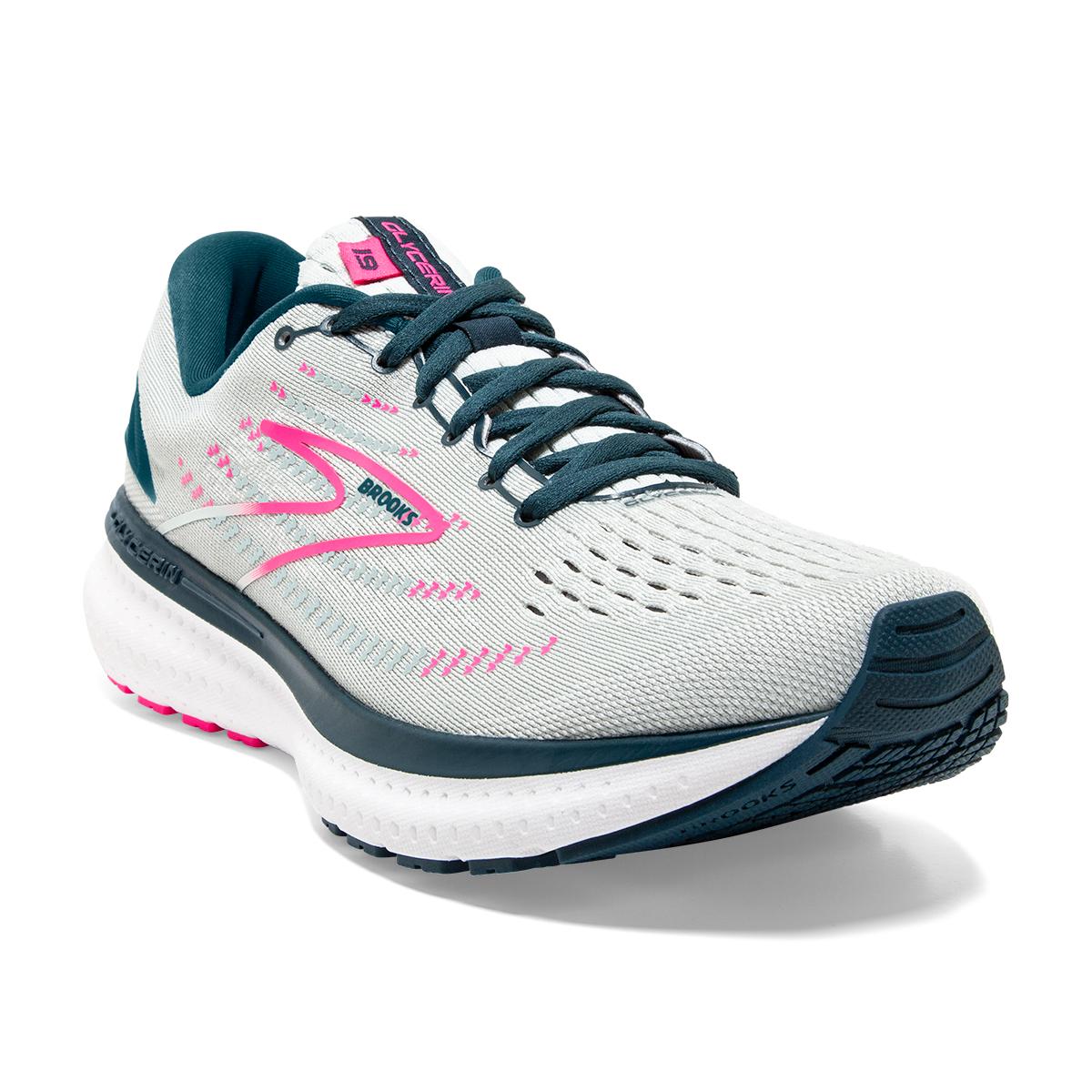 Women's Brooks Glycerin 19 Running Shoe - Color: Ice Flow/Navy - Size: 5 - Width: Regular, Ice Flow/Navy, large, image 4