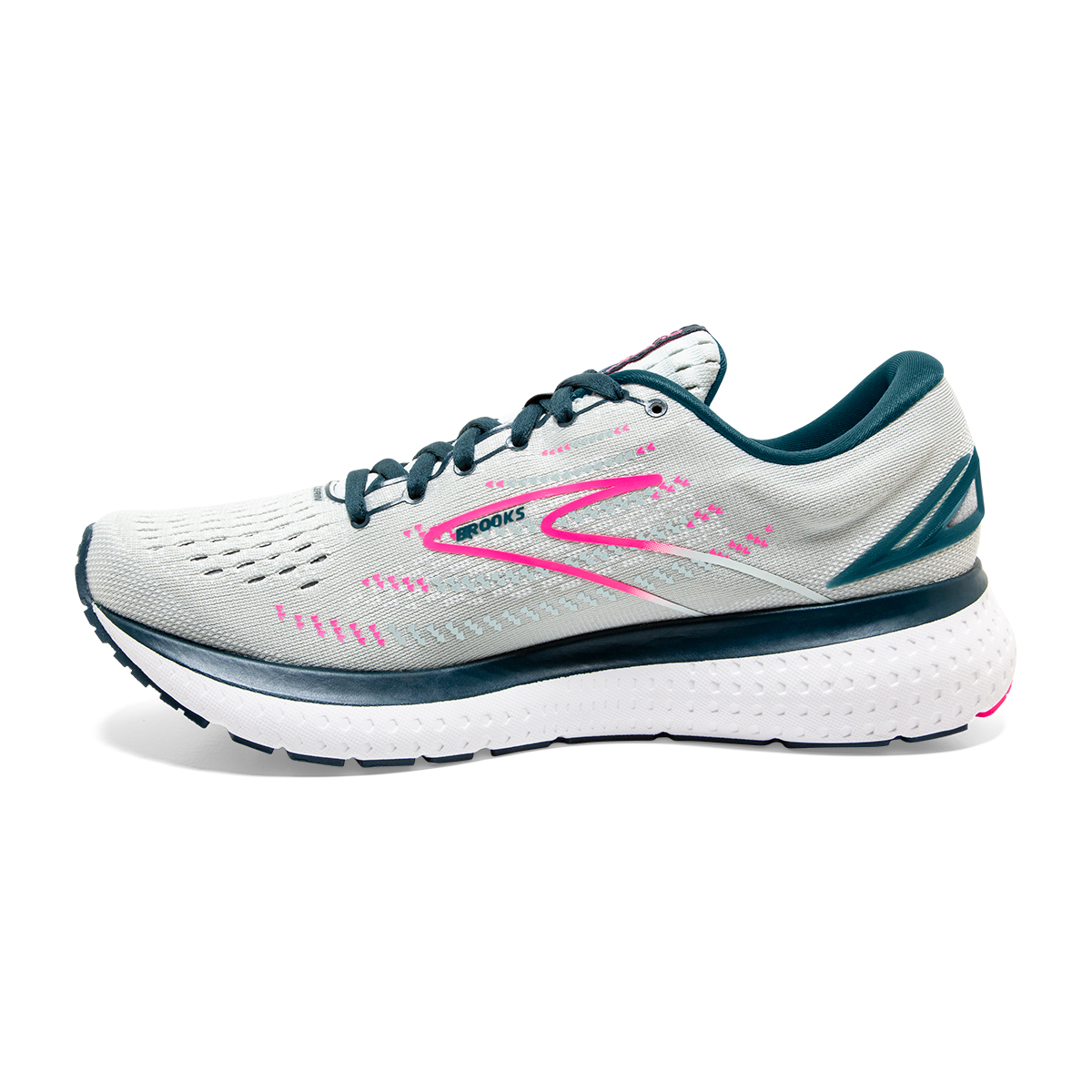 Women's Brooks Glycerin 19 Running Shoe - Color: Ice Flow/Navy - Size: 5 - Width: Regular, Ice Flow/Navy, large, image 5