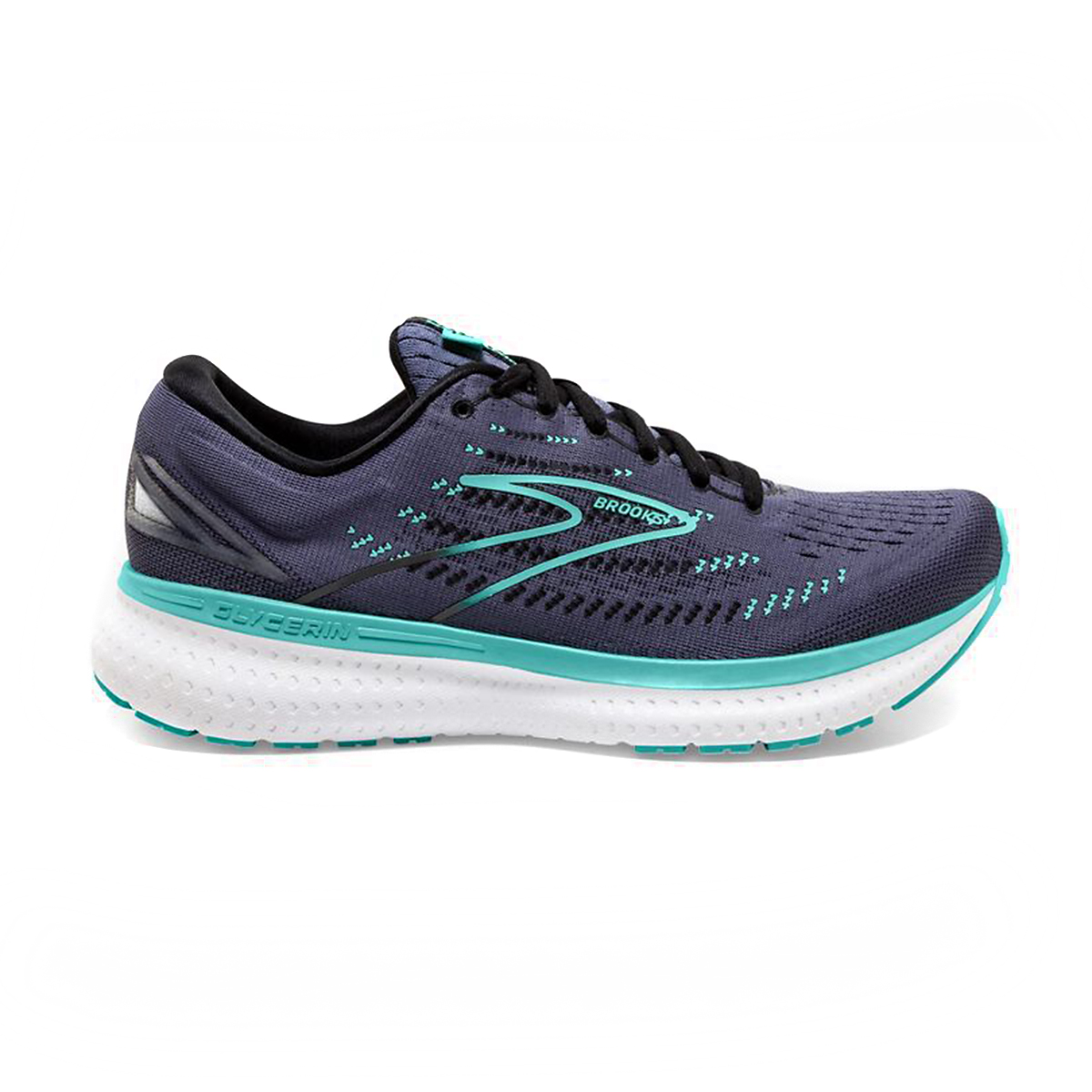 Women's Brooks Glycerin 19 Running Shoe - Color: Nightshadow/Bla - Size: 5 - Width: Regular, Nightshadow/Bla, large, image 1