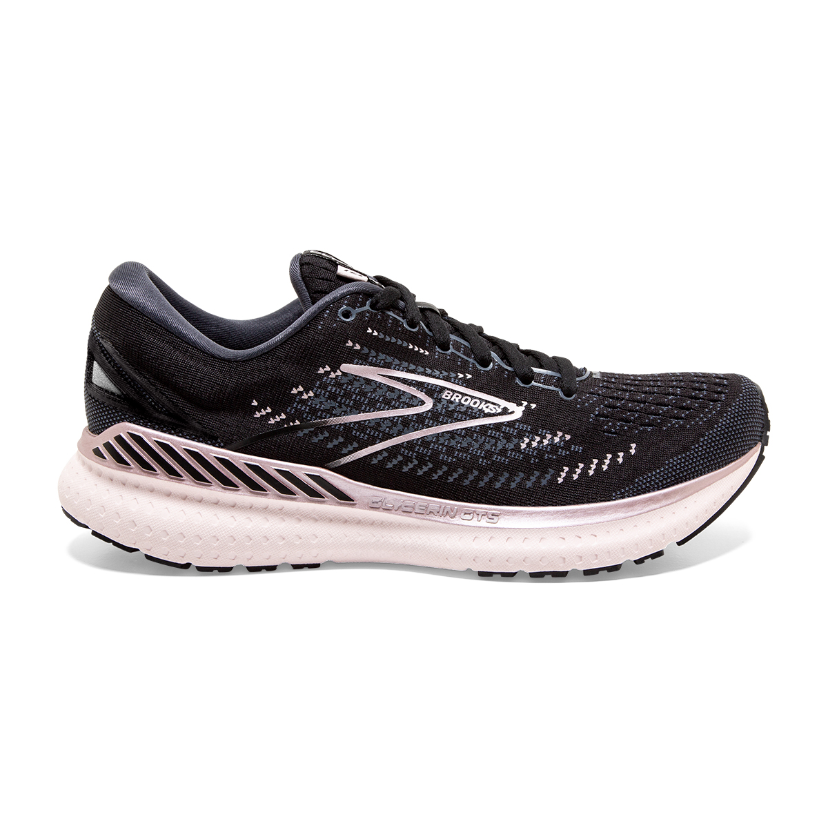 Women's Brooks Glycerin GTS 19 Running Shoe - Color: Black/Ombre/Metallic - Size: 7.5 - Width: Regular, Black/Ombre/Metallic, large, image 1