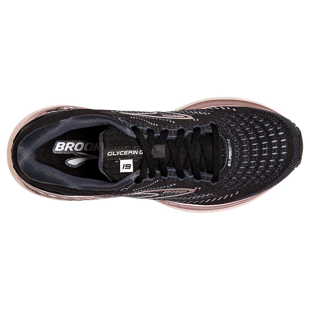 Women's Brooks Glycerin GTS 19 Running Shoe - Color: Black/Ombre/Metallic - Size: 7.5 - Width: Regular, Black/Ombre/Metallic, large, image 2