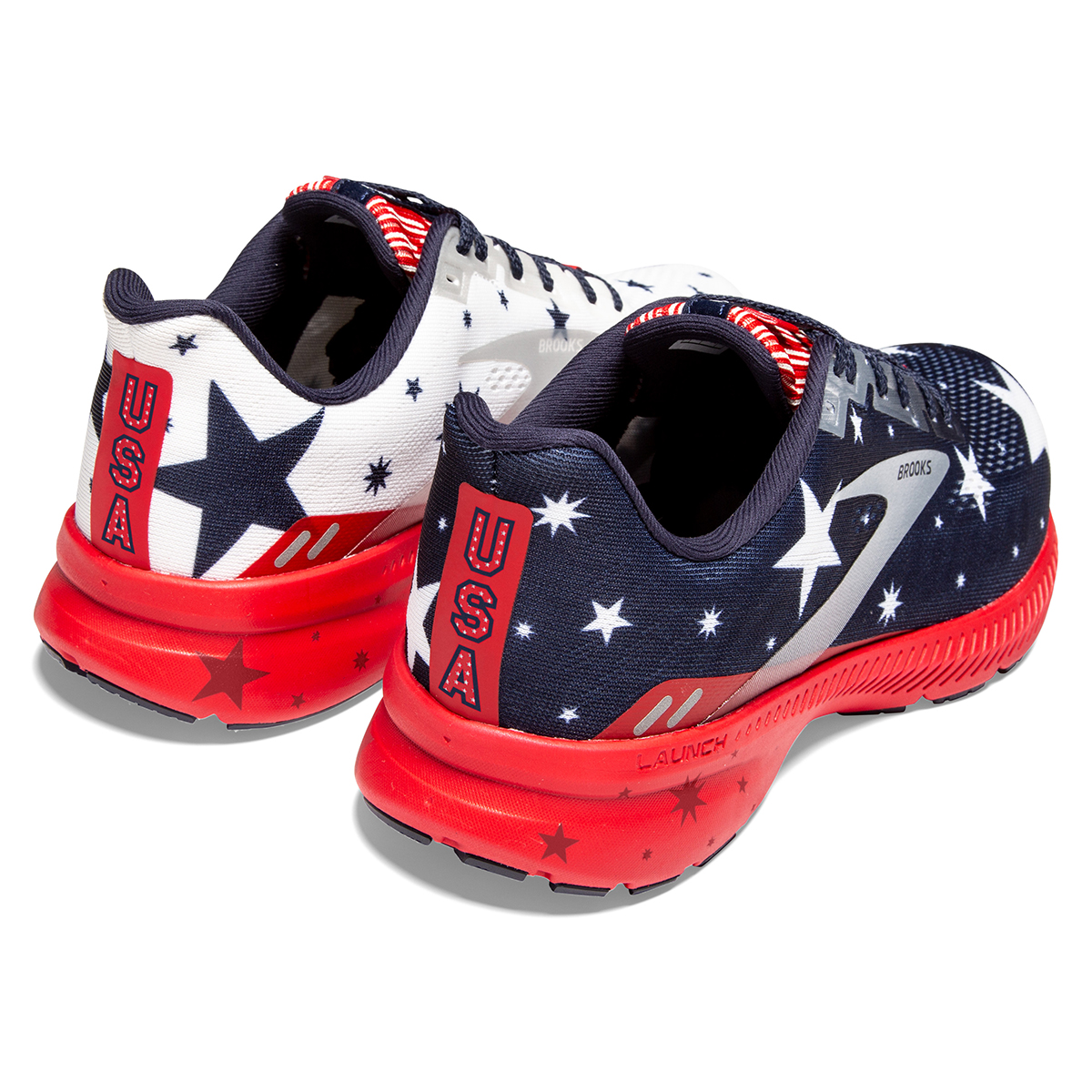 Women's Brooks Launch 8 Running Shoe - Color: Blue/Red/Silver - Size: 5 - Width: Regular, Blue/Red/Silver, large, image 7