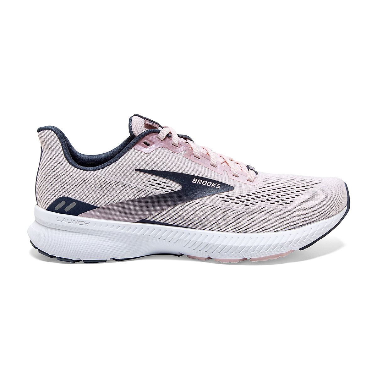 Women's Brooks Launch 8 Running Shoe - Color: Primrose/Ombre/Metallic - Size: 5 - Width: Regular, Primrose/Ombre/Metallic, large, image 1