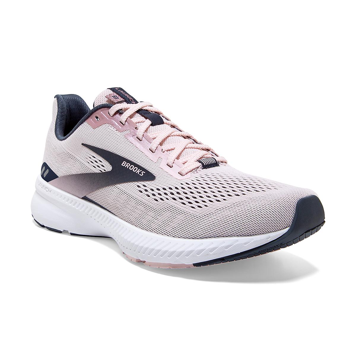 Women's Brooks Launch 8 Running Shoe - Color: Primrose/Ombre/Metallic - Size: 5 - Width: Regular, Primrose/Ombre/Metallic, large, image 2