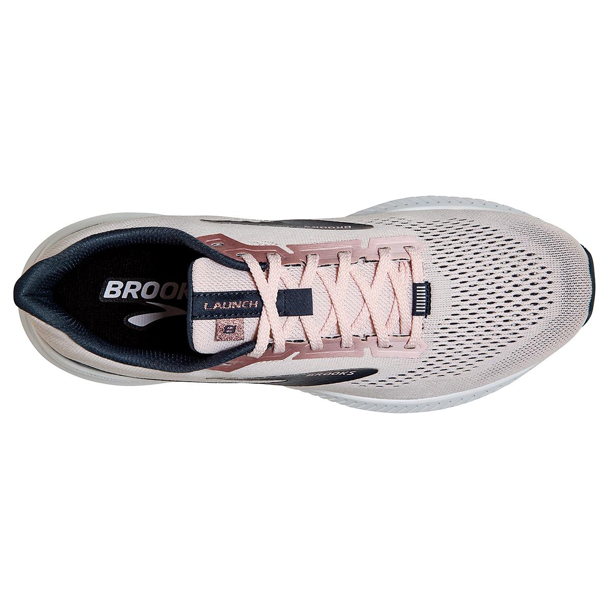 Women's Brooks Launch 8 Running Shoe - Color: Primrose/Ombre/Metallic - Size: 5 - Width: Regular, Primrose/Ombre/Metallic, large, image 5