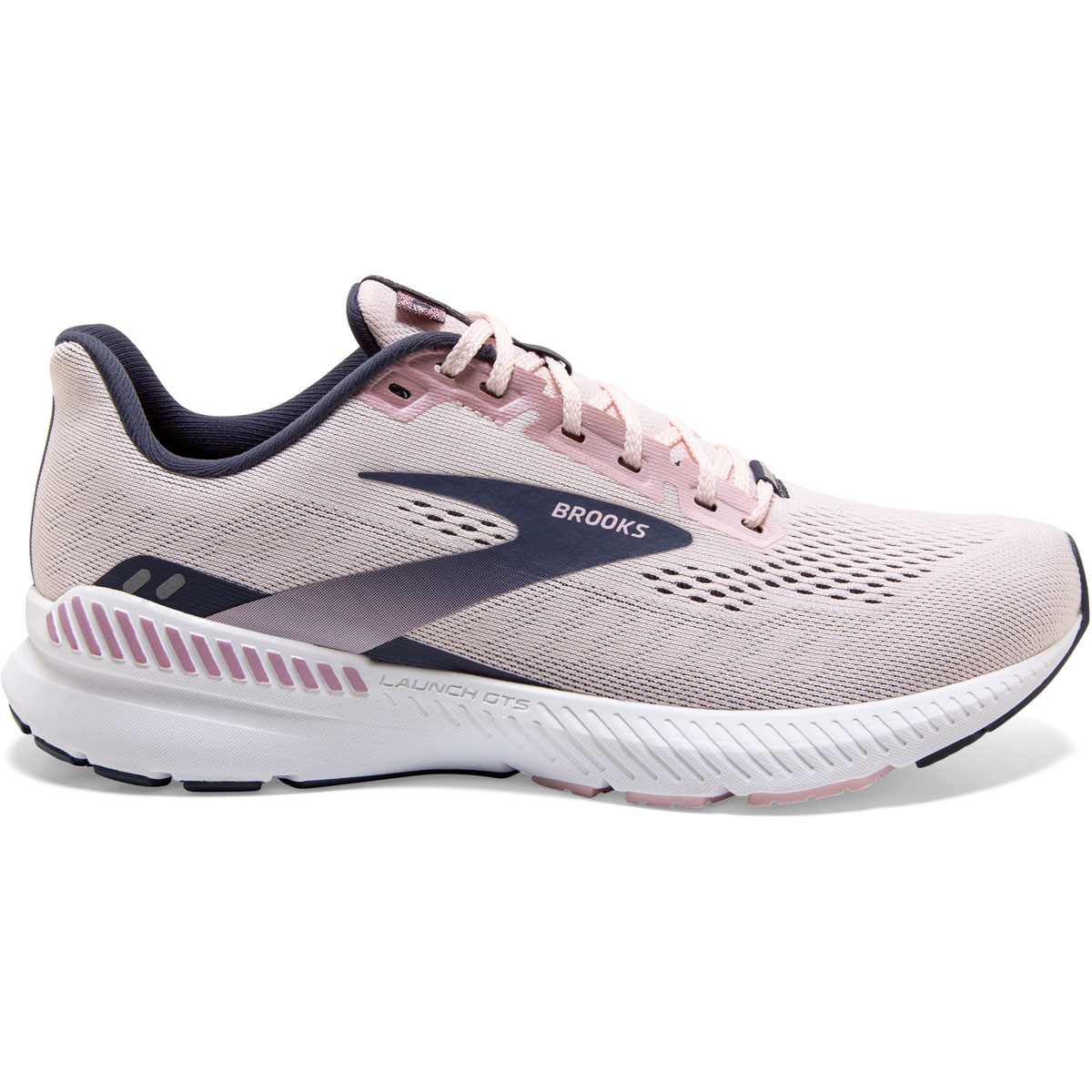 Women's Brooks Launch GTS 8 Running Shoe - Color: Primrose/Ombre - Size: 5 - Width: Regular, Primrose/Ombre, large, image 1