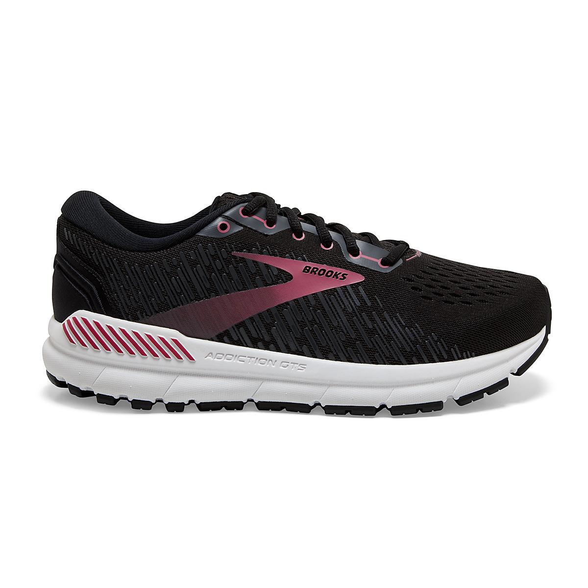 Women's Brooks Addiction GTS 15 Running Shoe - Color: Black/Ebony/Mauvewood - Size: 5 - Width: Regular, Black/Ebony/Mauvewood, large, image 1