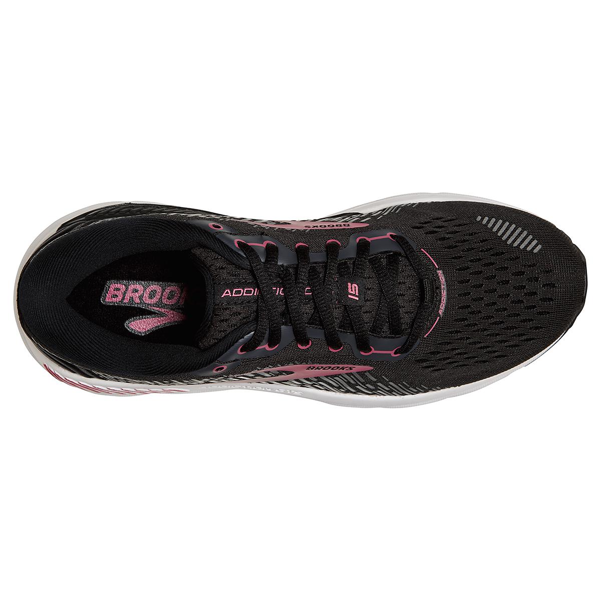 Women's Brooks Addiction GTS 15 Running Shoe - Color: Black/Ebony/Mauvewood - Size: 5 - Width: Regular, Black/Ebony/Mauvewood, large, image 3