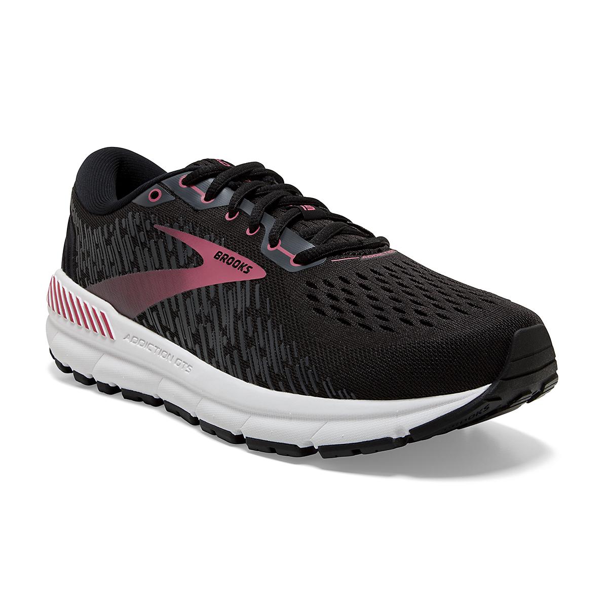 Women's Brooks Addiction GTS 15 Running Shoe - Color: Black/Ebony/Mauvewood - Size: 5 - Width: Regular, Black/Ebony/Mauvewood, large, image 5