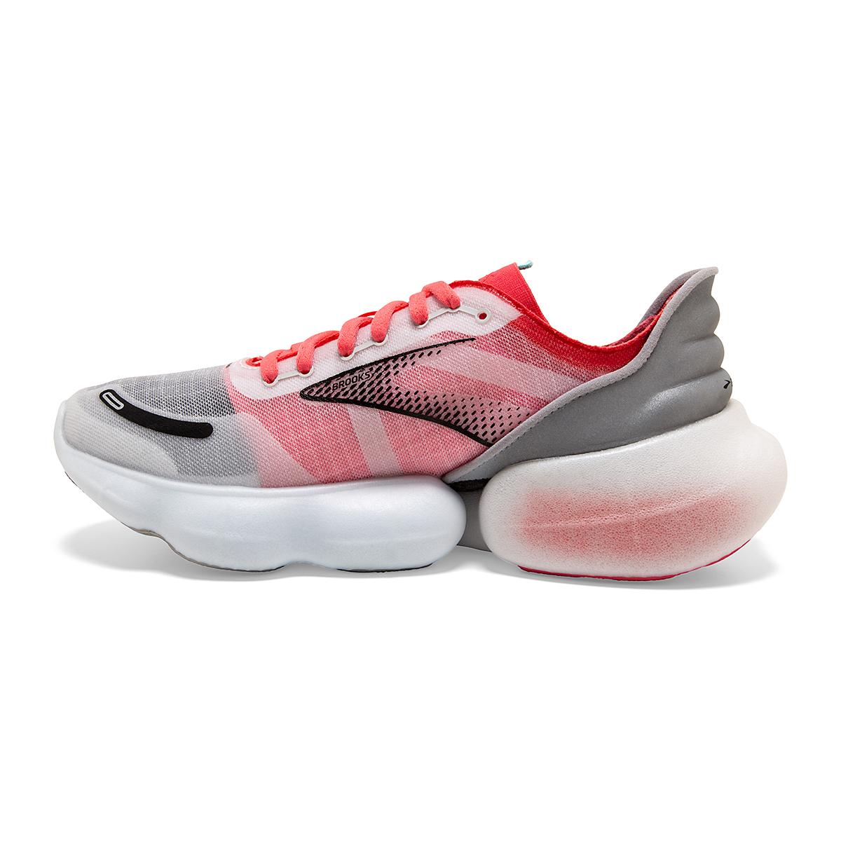 Women's Brooks Aurora-BL Running Shoe - Color: Grey/Coral/Black - Size: 5 - Width: Regular, Grey/Coral/Black, large, image 2