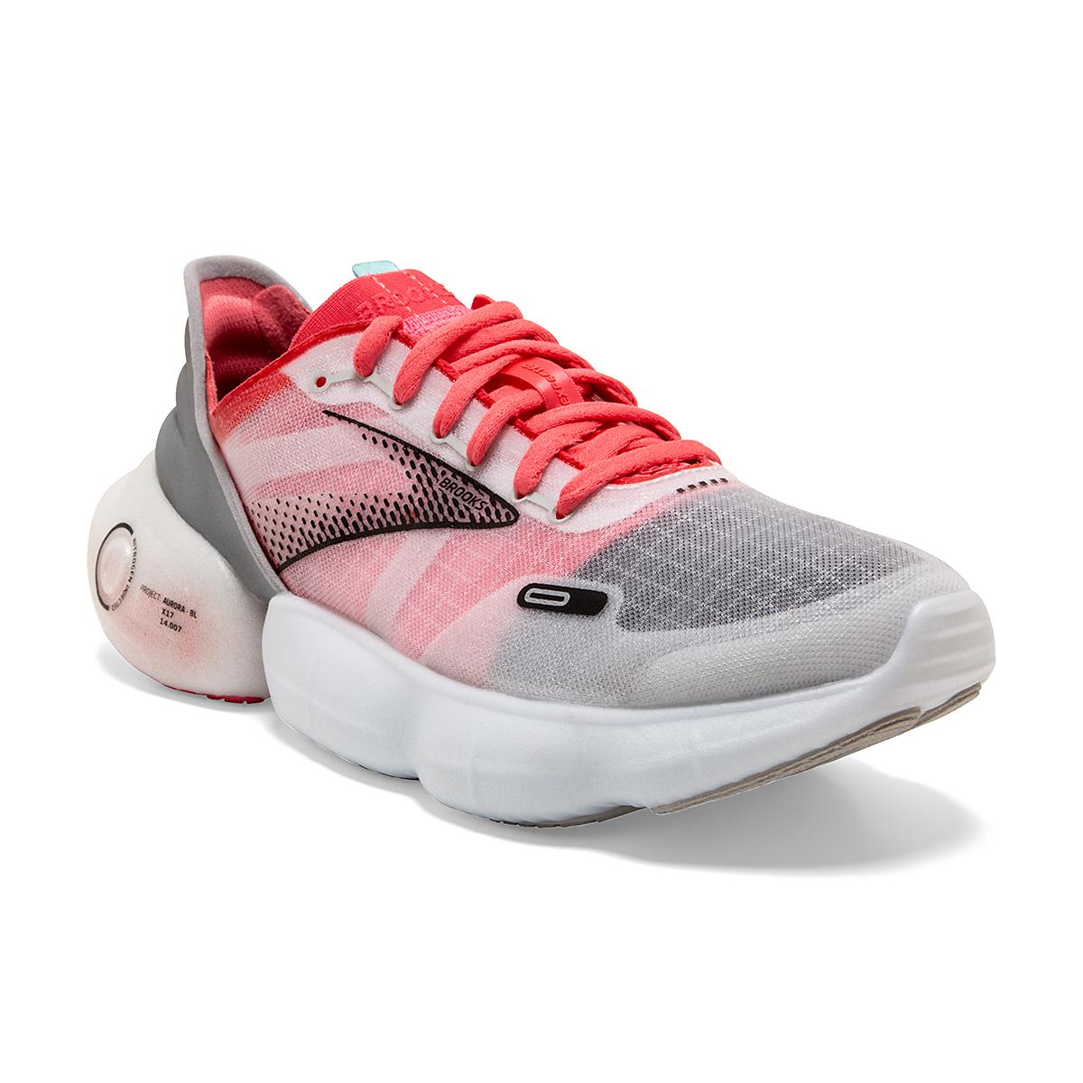 Women's Brooks Aurora-BL Running Shoe - Color: Grey/Coral/Black - Size: 5 - Width: Regular, Grey/Coral/Black, large, image 3