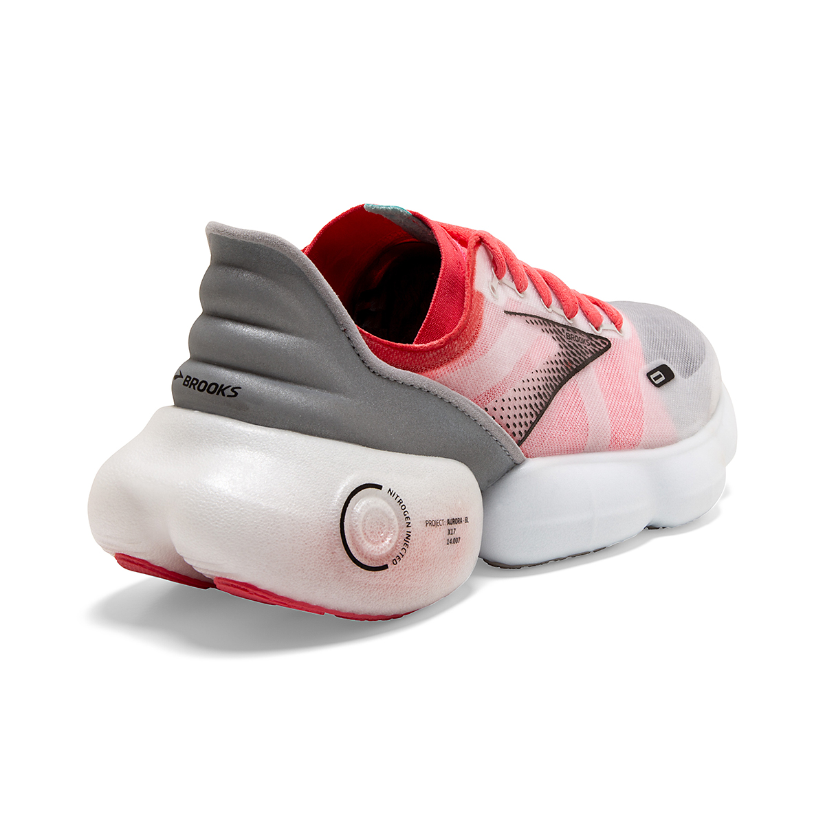 Women's Brooks Aurora-BL Running Shoe - Color: Grey/Coral/Black - Size: 5 - Width: Regular, Grey/Coral/Black, large, image 4