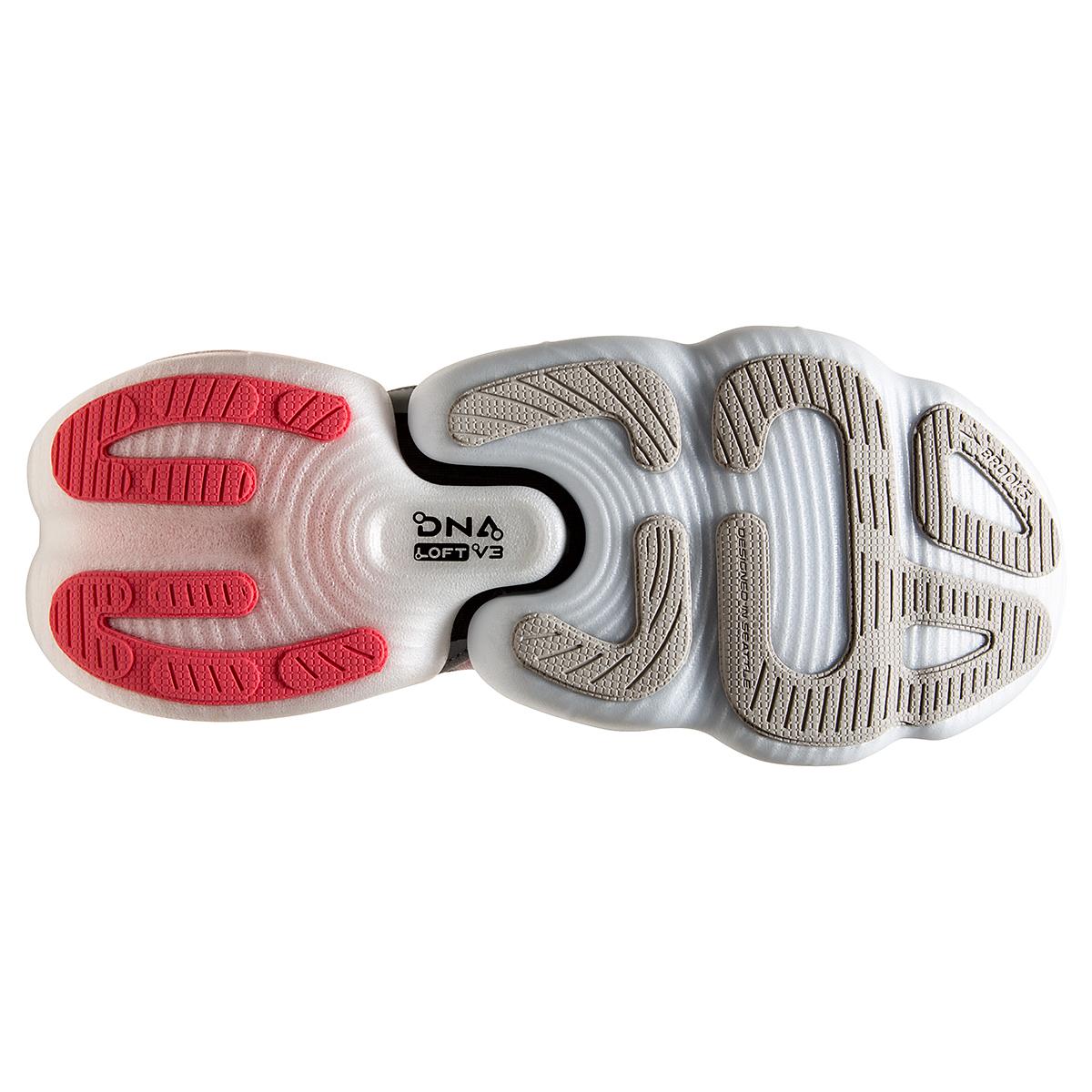 Women's Brooks Aurora-BL Running Shoe - Color: Grey/Coral/Black - Size: 5 - Width: Regular, Grey/Coral/Black, large, image 6