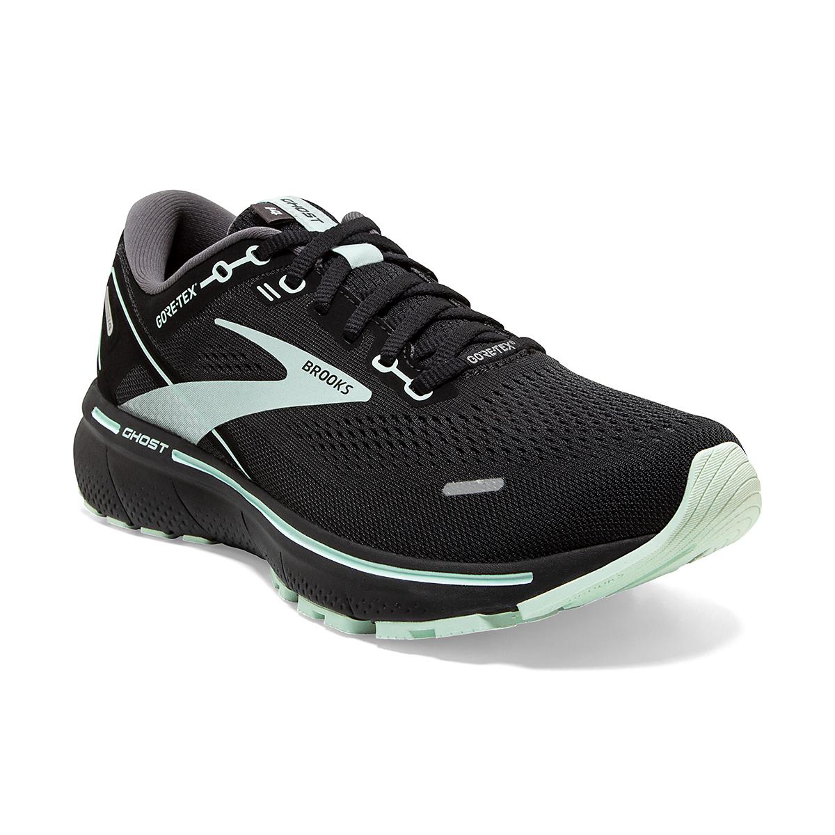 Women's Brooks Ghost 14 Gore-Tex Running Shoe - Color: Black/Blackened Pearl/Aquaglass - Size: 5 - Width: Regular, Black/Blackened Pearl/Aquaglass, large, image 5