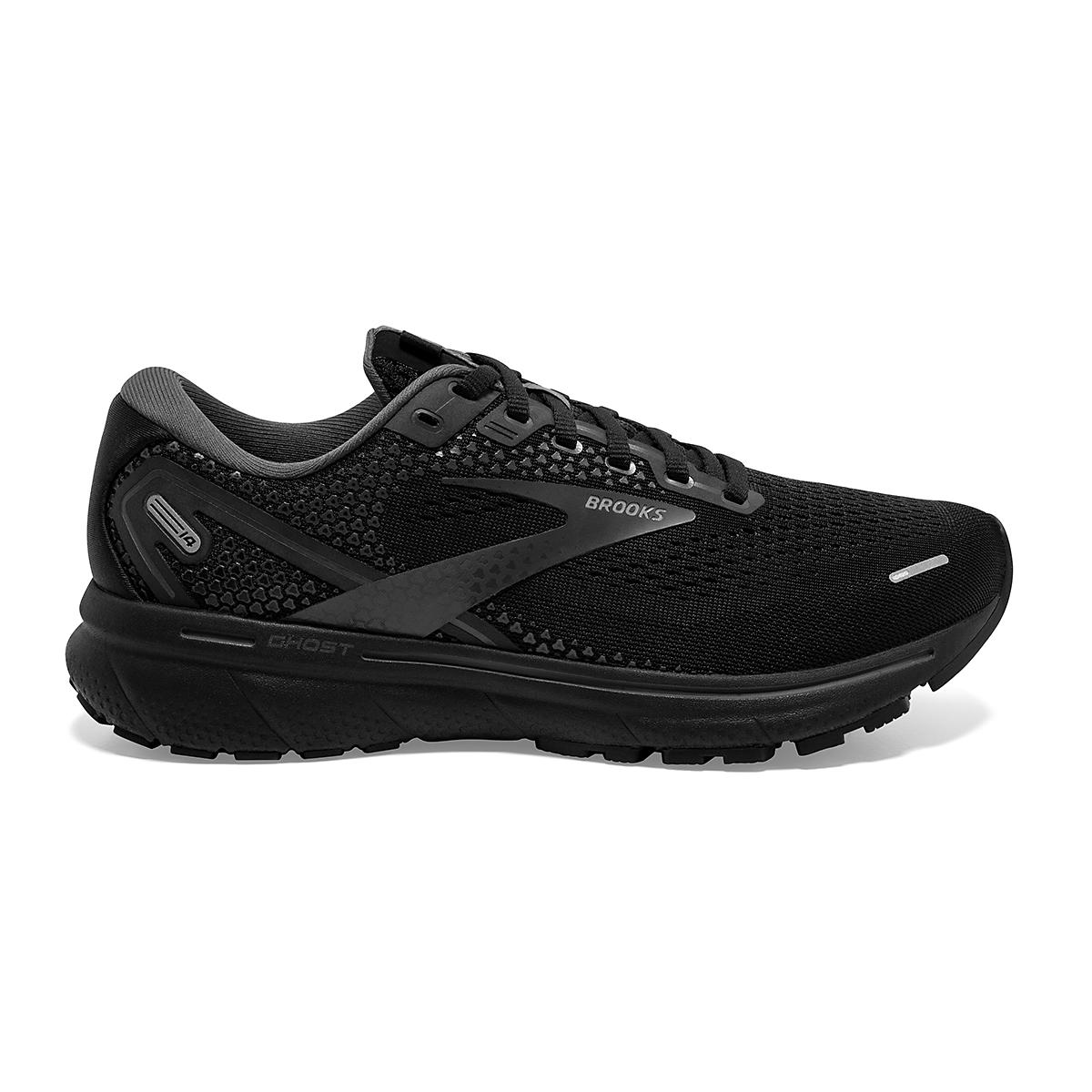 Women's Brooks Ghost 14 Running Shoe - Color: Black/Black/Ebony - Size: 5 - Width: Regular, Black/Black/Ebony, large, image 1