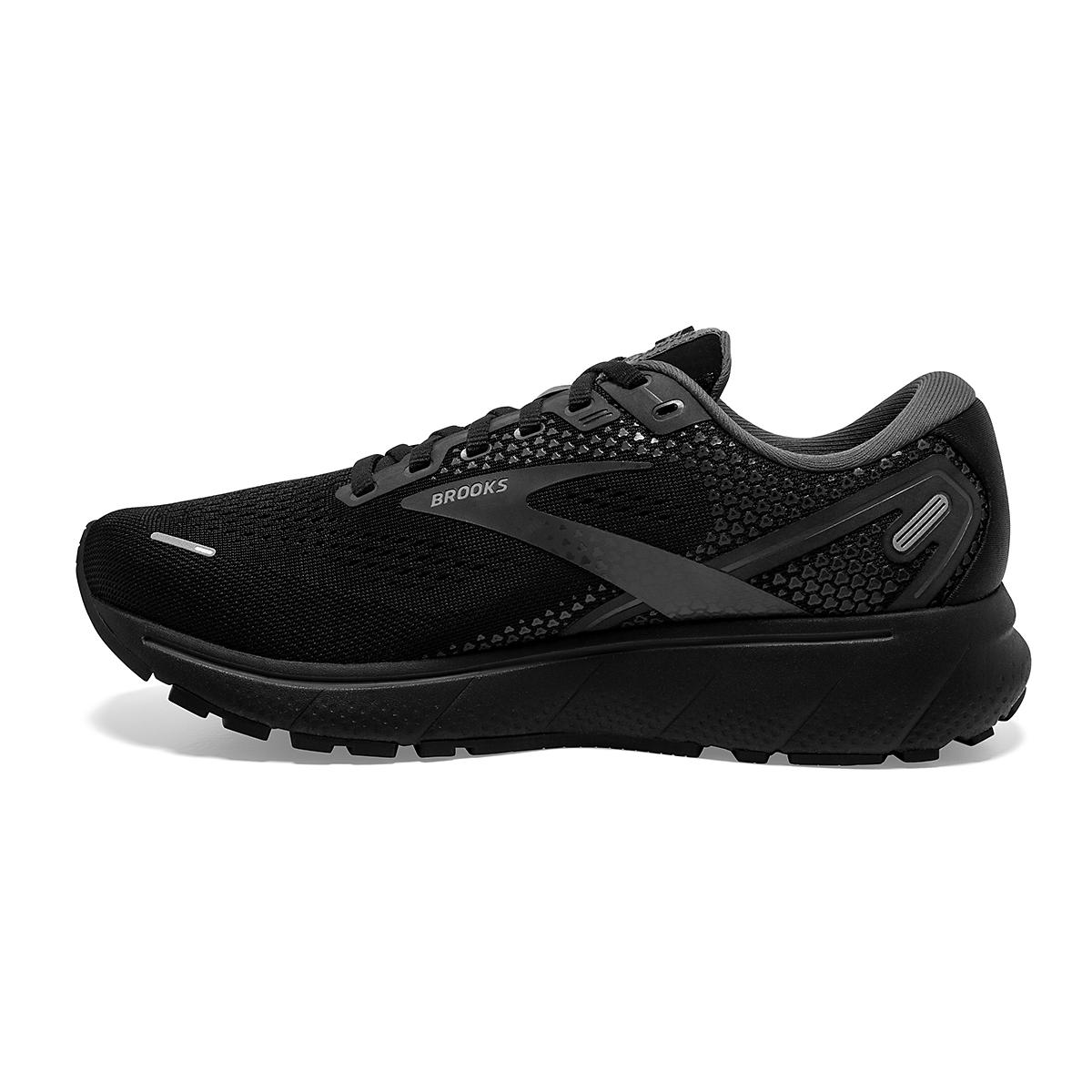 Women's Brooks Ghost 14 Running Shoe - Color: Black/Black/Ebony - Size: 5 - Width: Regular, Black/Black/Ebony, large, image 2