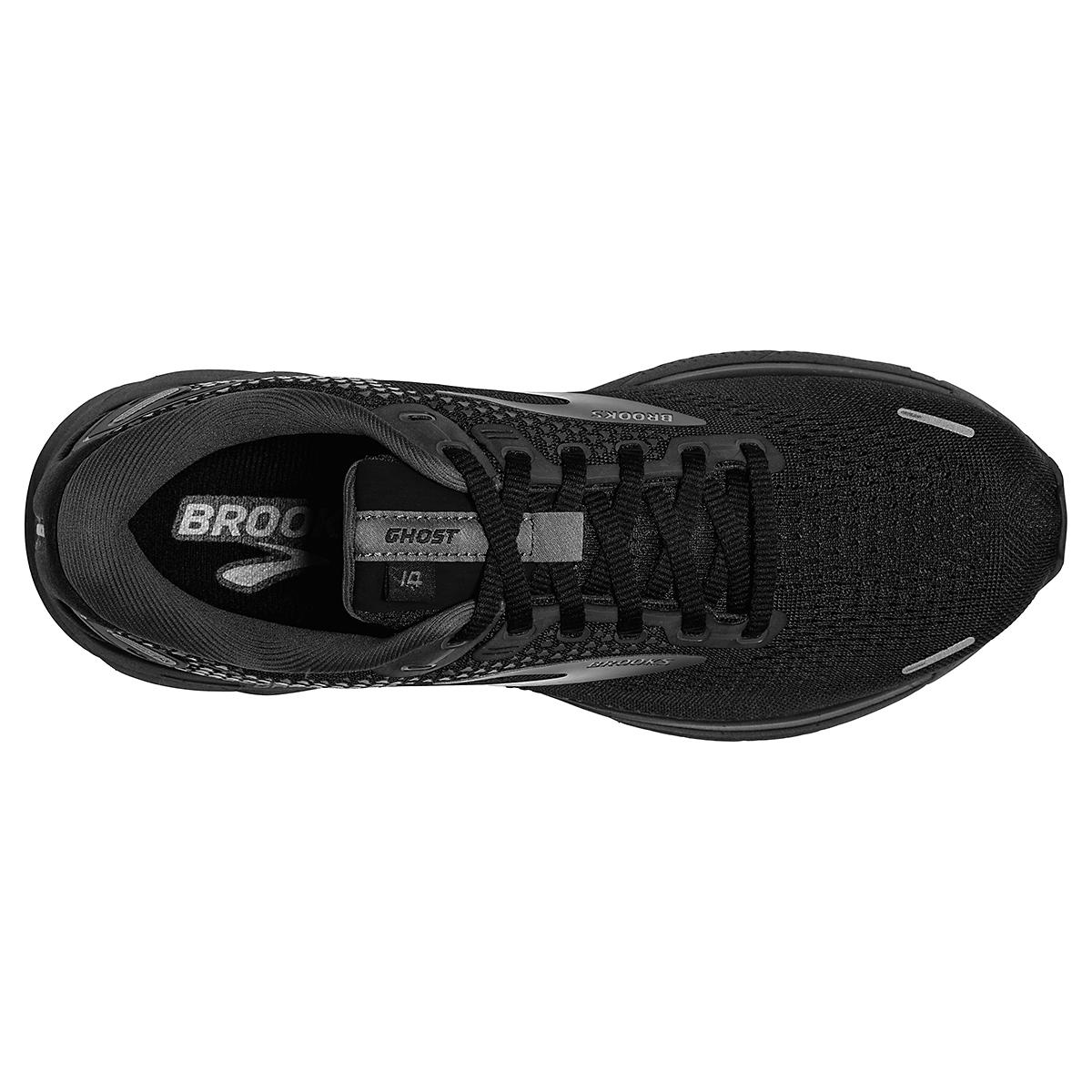 Women's Brooks Ghost 14 Running Shoe - Color: Black/Black/Ebony - Size: 5 - Width: Regular, Black/Black/Ebony, large, image 3