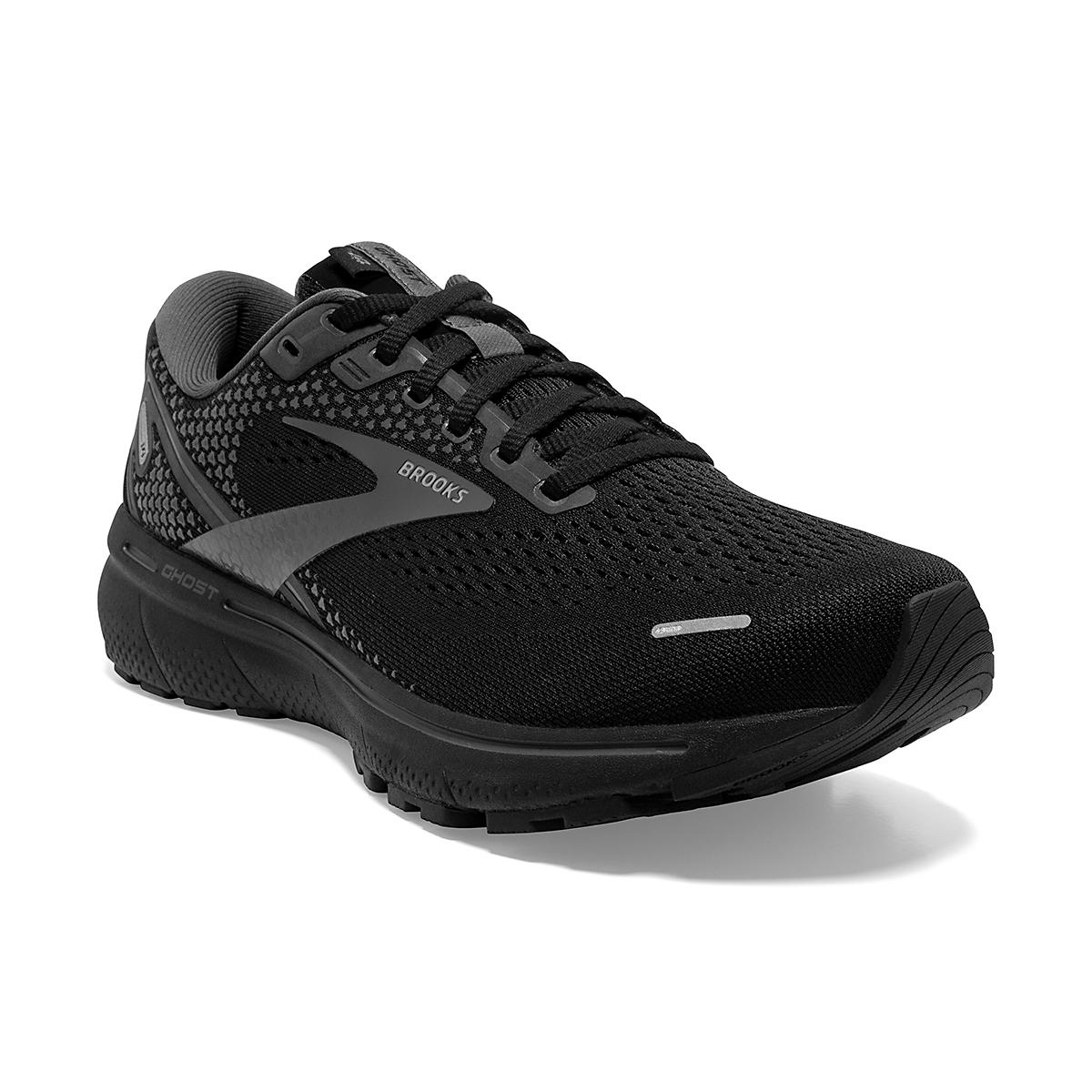 Women's Brooks Ghost 14 Running Shoe - Color: Black/Black/Ebony - Size: 5 - Width: Regular, Black/Black/Ebony, large, image 5
