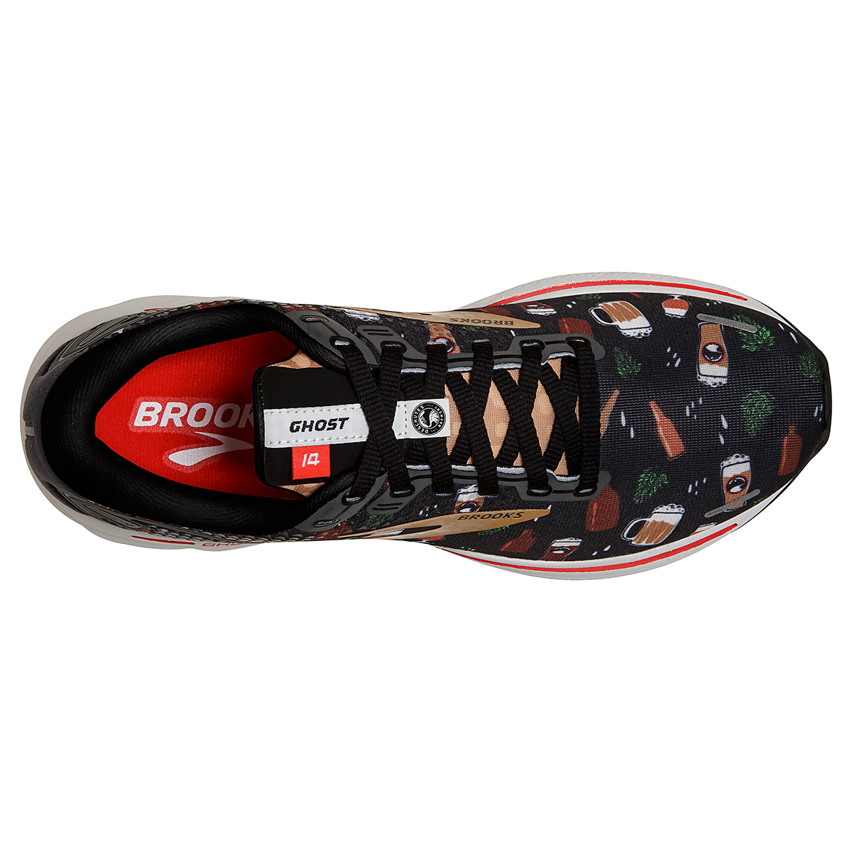 Women's Brooks Ghost 14 Running Shoe - Color: Run Hoppy - Size: 5 - Width: Regular, Run Hoppy, large, image 5