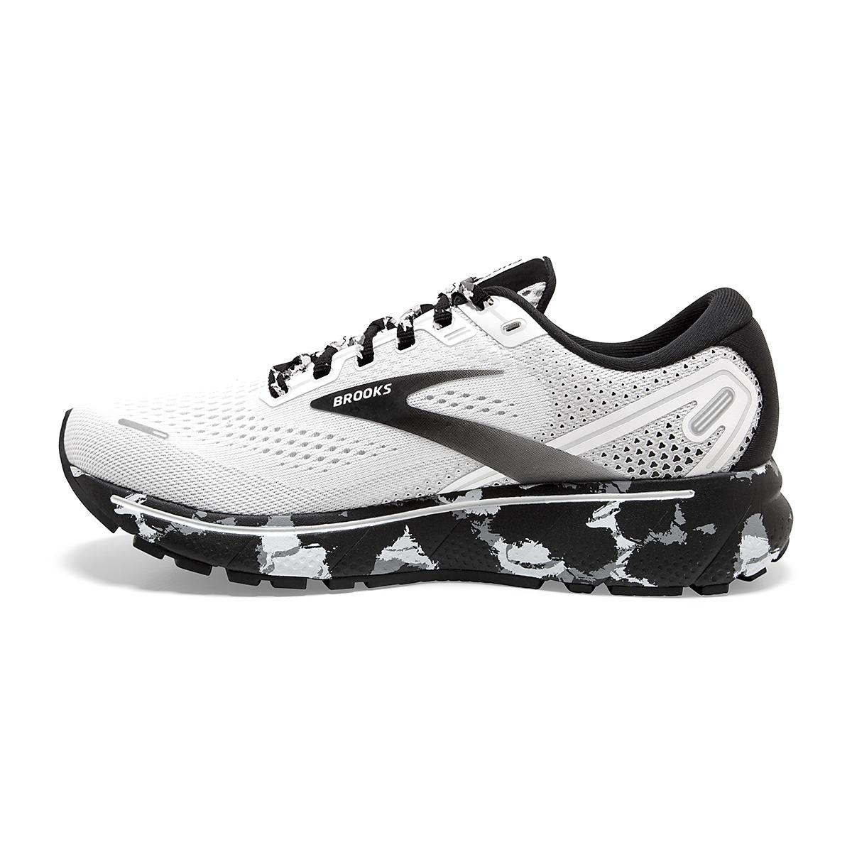 Women's Brooks Ghost 14 Running Shoe - Color: White/Grey/Black - Size: 5 - Width: Regular, White/Grey/Black, large, image 4