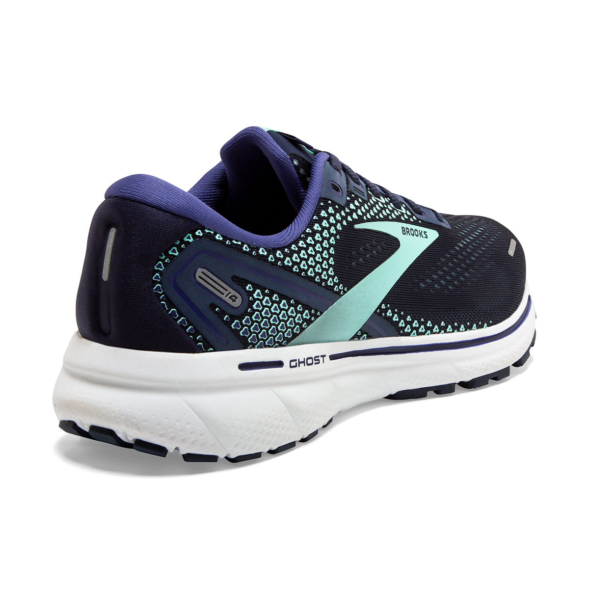Women's Brooks Ghost 14 Running Shoe - Color: Peacoat/Yucca - Size: 5 - Width: Regular, Peacoat/Yucca, large, image 6