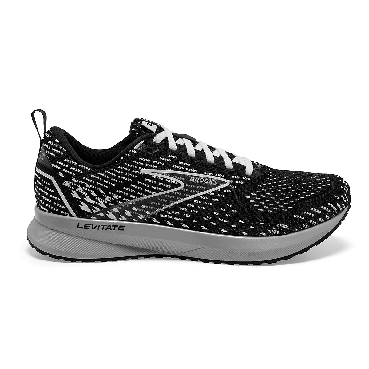 Women's Brooks Levitate 5 Running Shoe - Color: Black/Grey/White - Size: 5 - Width: Regular, Black/Grey/White, large, image 1