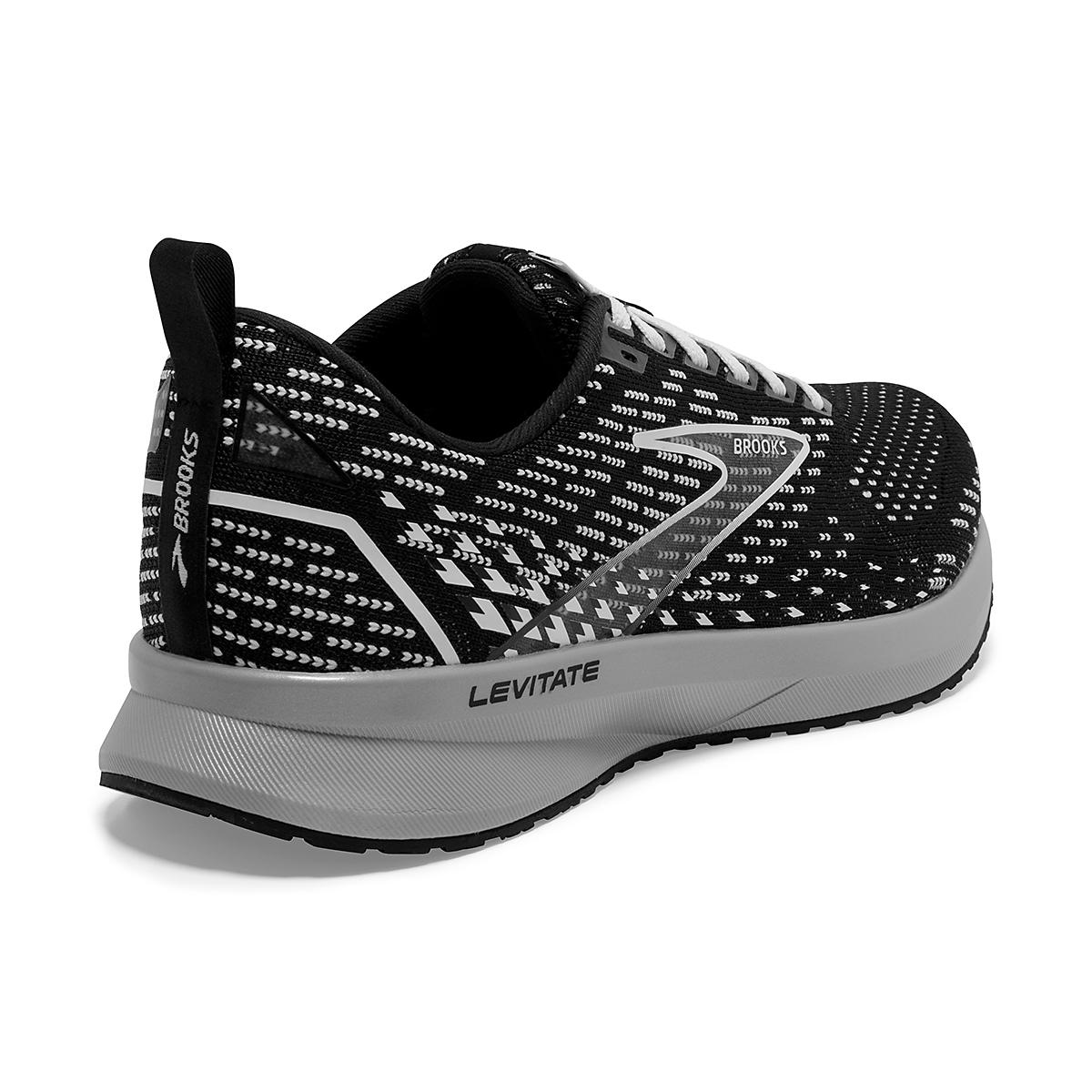 Women's Brooks Levitate 5 Running Shoe - Color: Black/Grey/White - Size: 5 - Width: Regular, Black/Grey/White, large, image 3