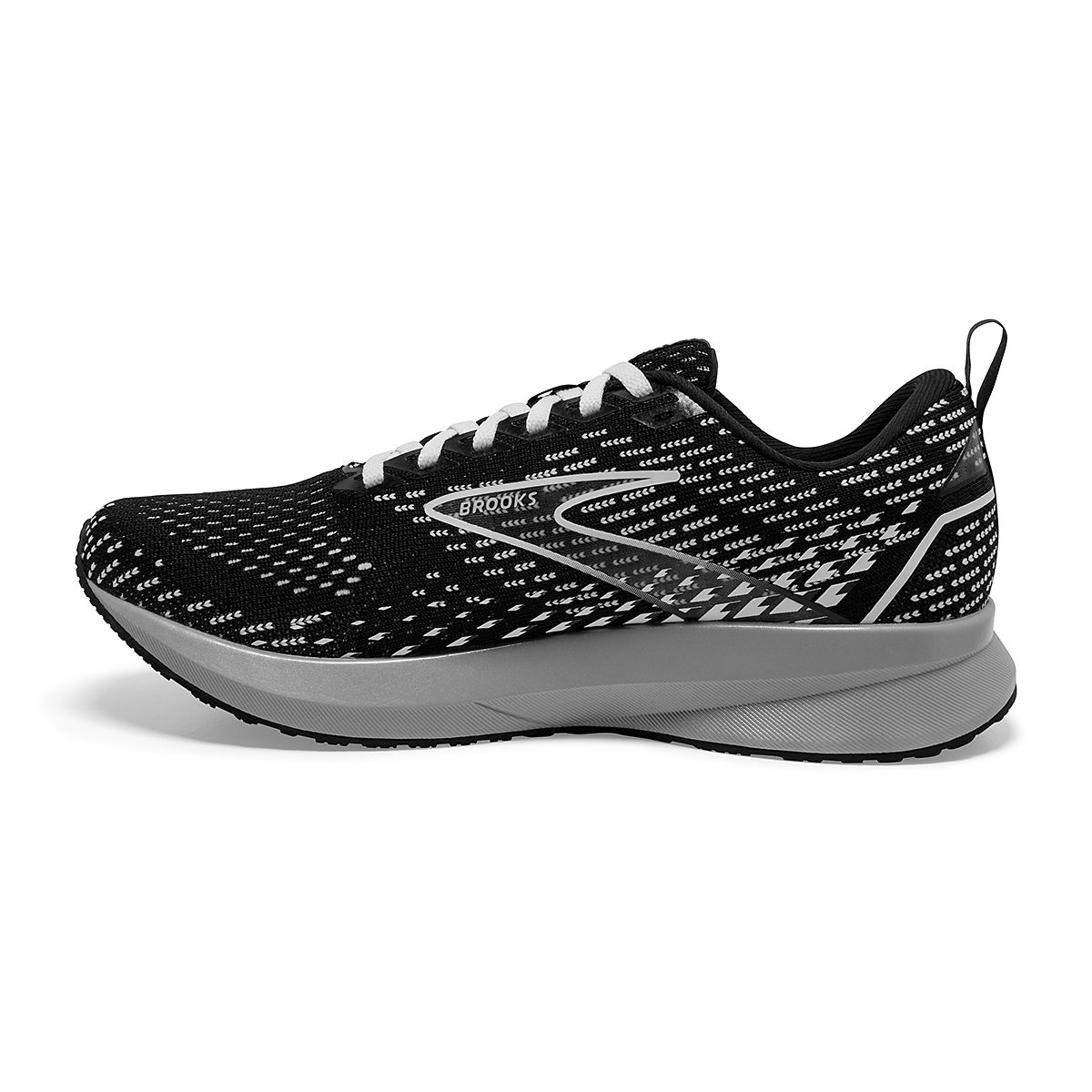 Women's Brooks Levitate 5 Running Shoe - Color: Black/Grey/White - Size: 5 - Width: Regular, Black/Grey/White, large, image 4
