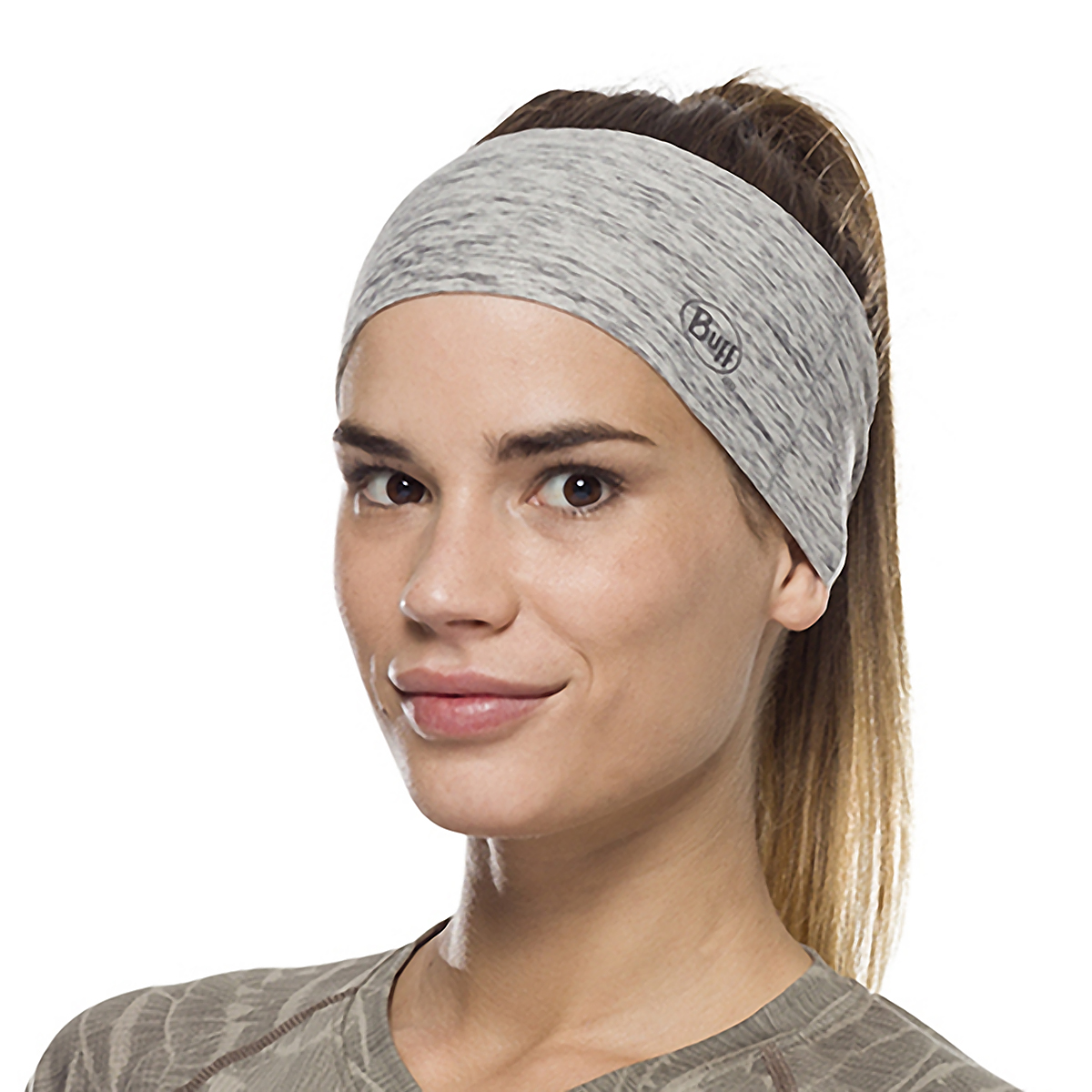 Buff Coolnet UV+ Tapered Headband - Color: Grey Heather, Grey Heather, large, image 2