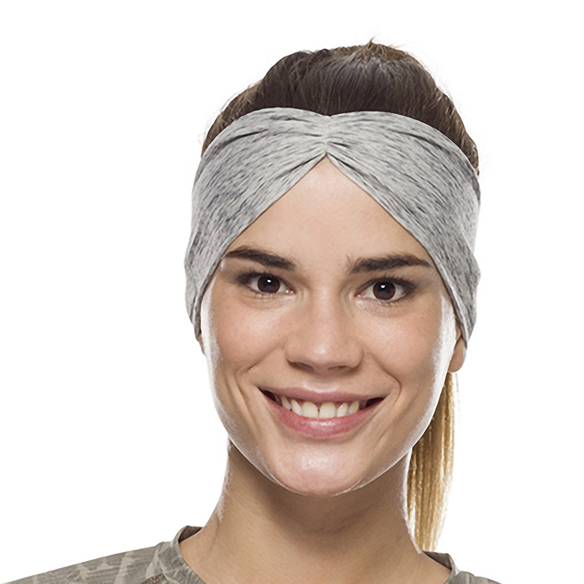 Buff Coolnet UV+ Tapered Headband - Color: Grey Heather, Grey Heather, large, image 3