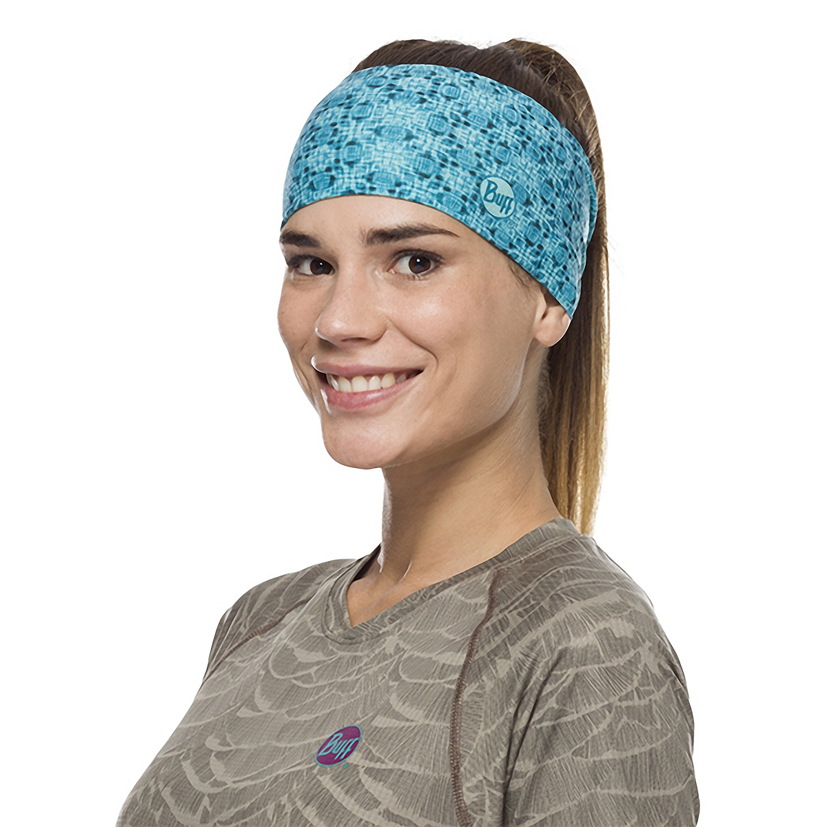 Buff Coolnet UV+ Tapered Headband - Color: Balmor Pool, Balmor Pool, large, image 2