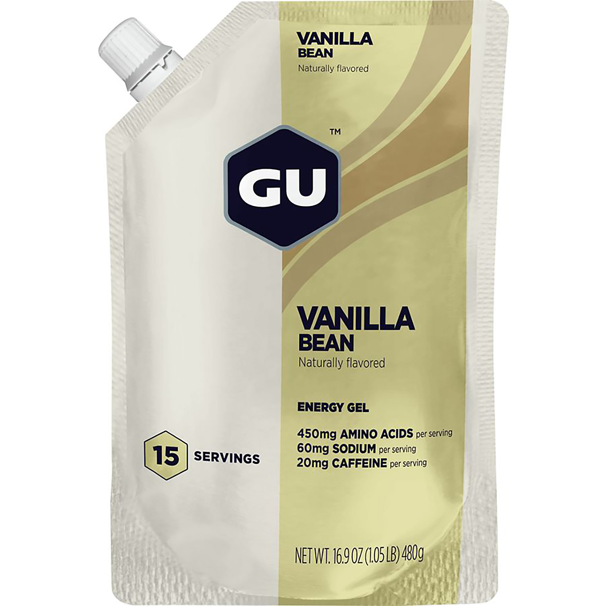 GU Energy Gel - Flavor: Vanilla Bean - Size: Box of 24, Vanilla Bean, large, image 1