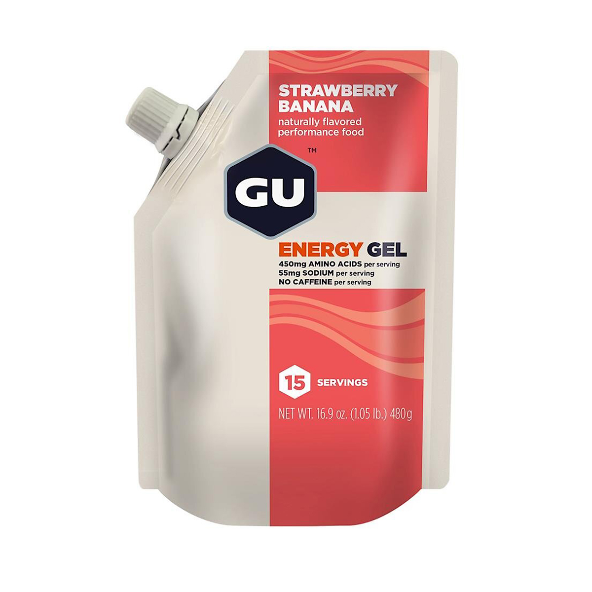 Gu Energy Gel Bulk Pack - Color: Strawberry Banana - Size: 15 Servings, Strawberry Banana, large, image 1