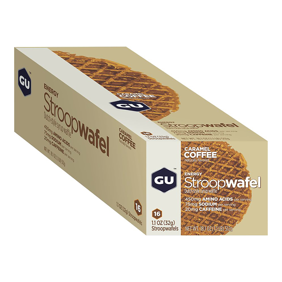 Gu Energy Stroopwafel - Color: Caramel Coffee - Size: Box of 16, Caramel Coffee, large, image 2