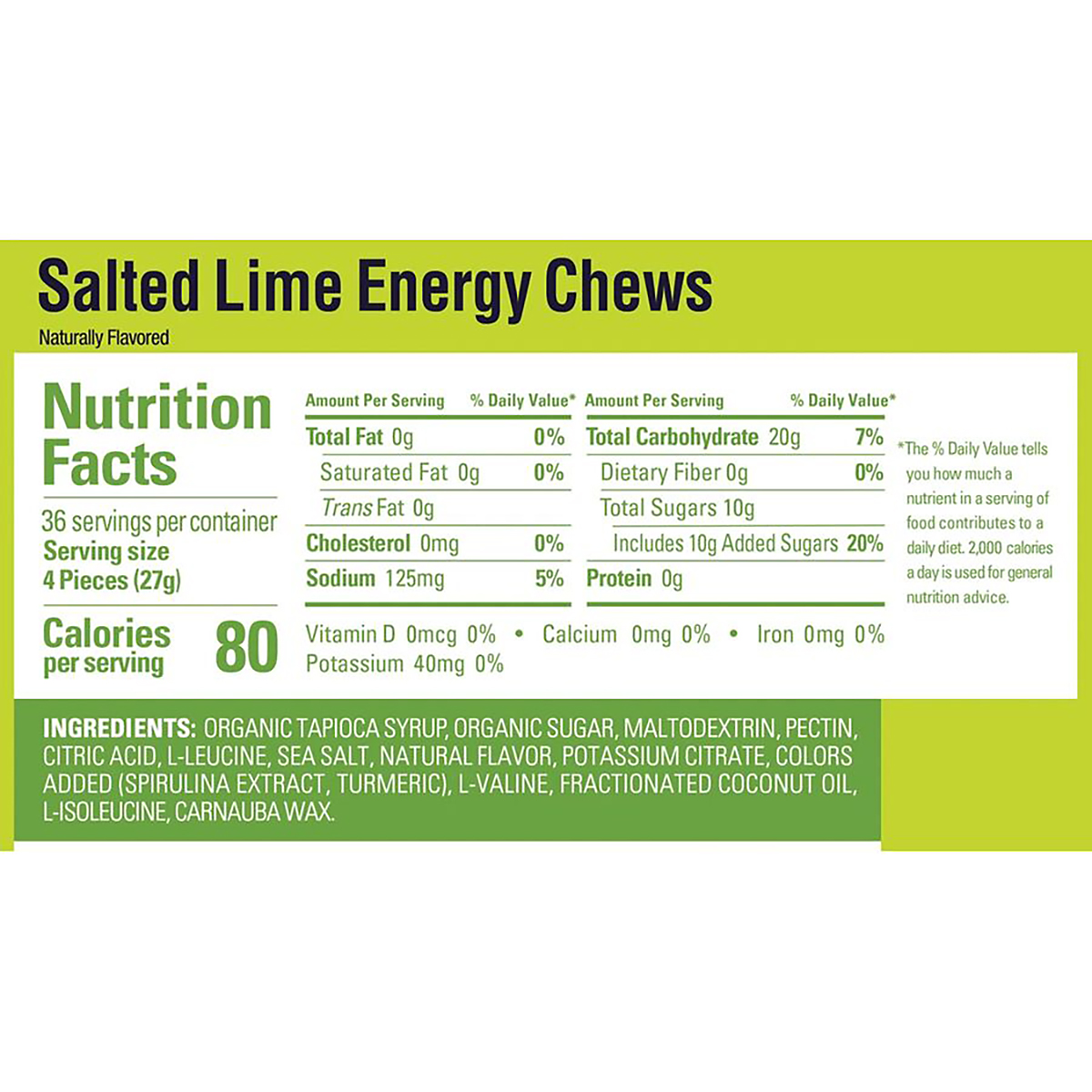 Gu Energy Chews - Color: Salted Lime - Size: Box of 18, Salted Lime, large, image 2