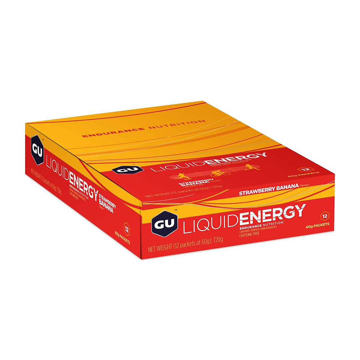 GU Energy Gel - Flavor: Strawberry Banana - Size: Box of 24, Strawberry Banana, large, image 2