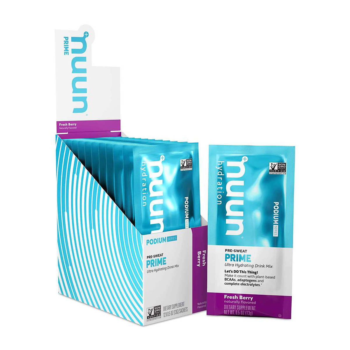 Nuun Prime Series Drink Mix - Color: Fresh Berry - Size: Canister, Fresh Berry, large, image 1
