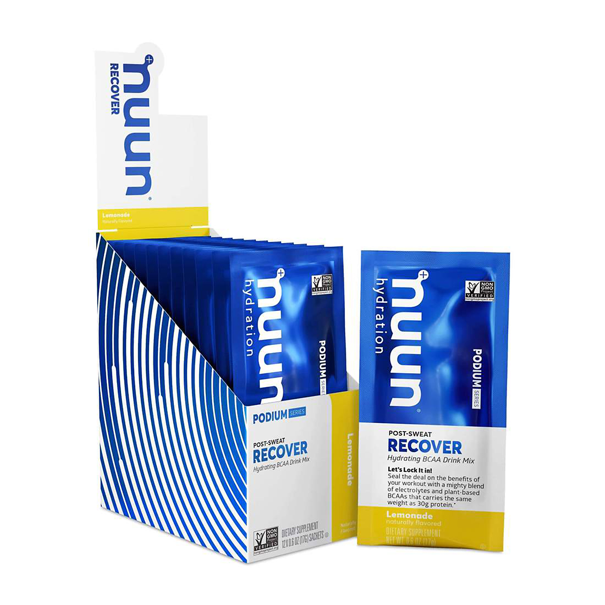 Nuun Podium Series Recover Mix  - Color: Lemonade - Size: Canister, Lemonade, large, image 1
