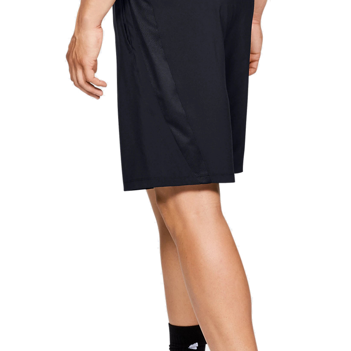 Men's Under Armour Launch SW 9in Shorts - Color: Black/Black/Reflective - Size: S, Black/Reflective, large, image 3