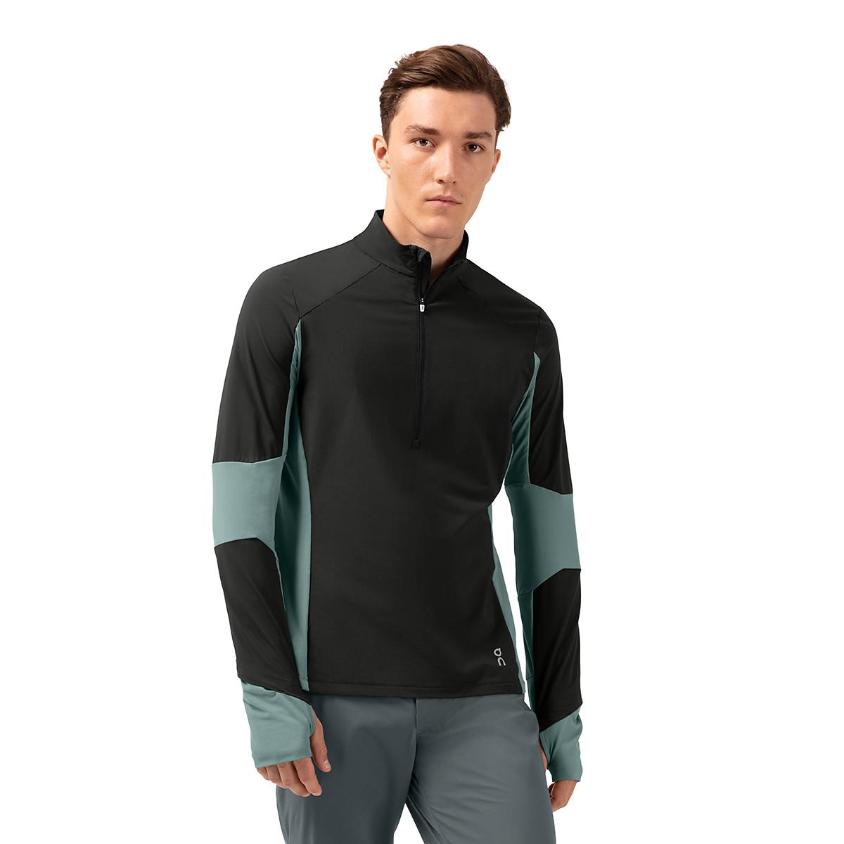 Men's On Trail Breaker Long Sleeve Quarter Zip Pullover - Color: Black/Olive - Size: XS, Black/Olive, large, image 1