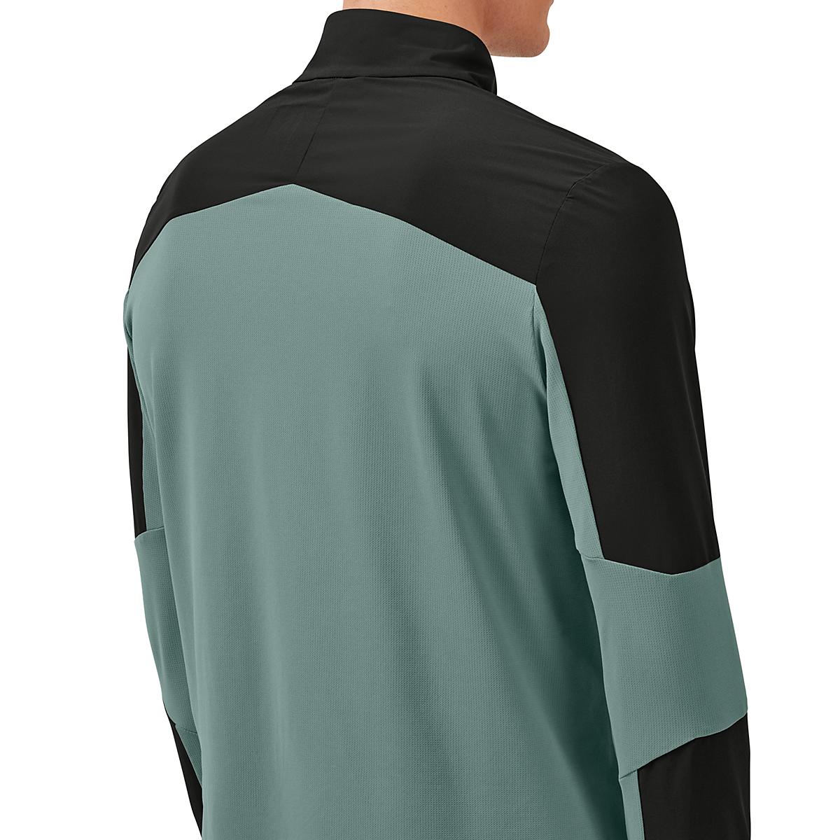 Men's On Trail Breaker Long Sleeve Quarter Zip Pullover - Color: Black/Olive - Size: XS, Black/Olive, large, image 2