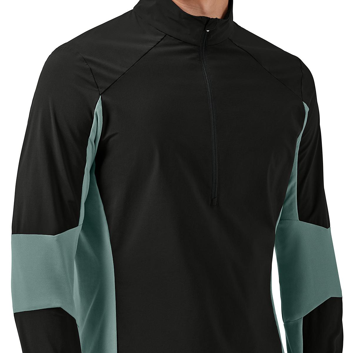 Men's On Trail Breaker Long Sleeve Quarter Zip Pullover - Color: Black/Olive - Size: XS, Black/Olive, large, image 3