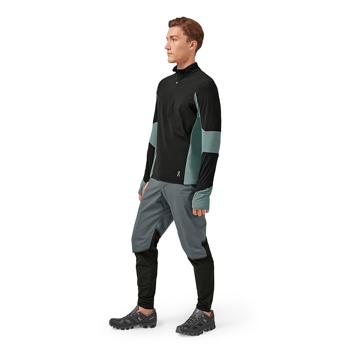 Men's On Trail Breaker Long Sleeve Quarter Zip Pullover - Color: Black/Olive - Size: XS, Black/Olive, large, image 4