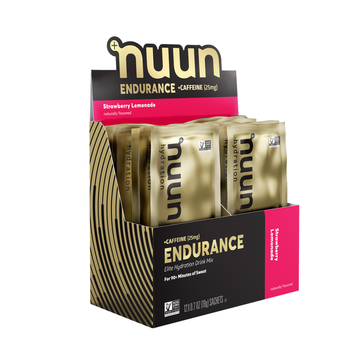 Nuun Endurance Drink Mix - Flavor: Strawberry Lemonade + Caffeine - Size: 16 Servings, Strawberry Lemonade + Caffeine, large, image 1