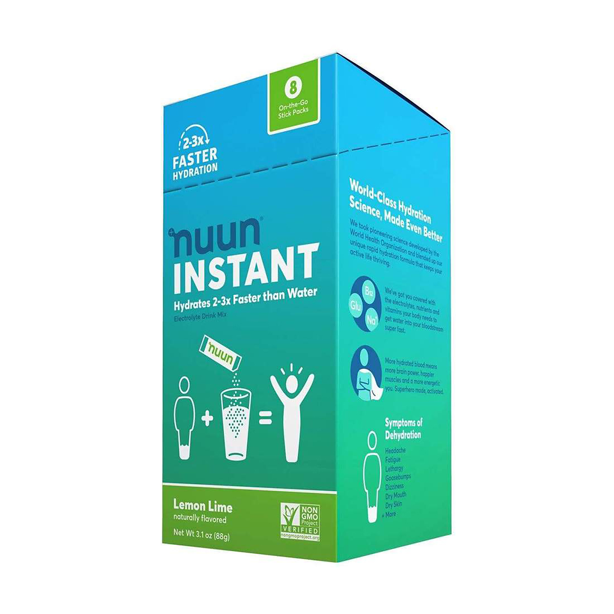 Nuun Instant Drink Mix - Color: Lemon Lime - Size: Box of 8, Lemon Lime, large, image 1