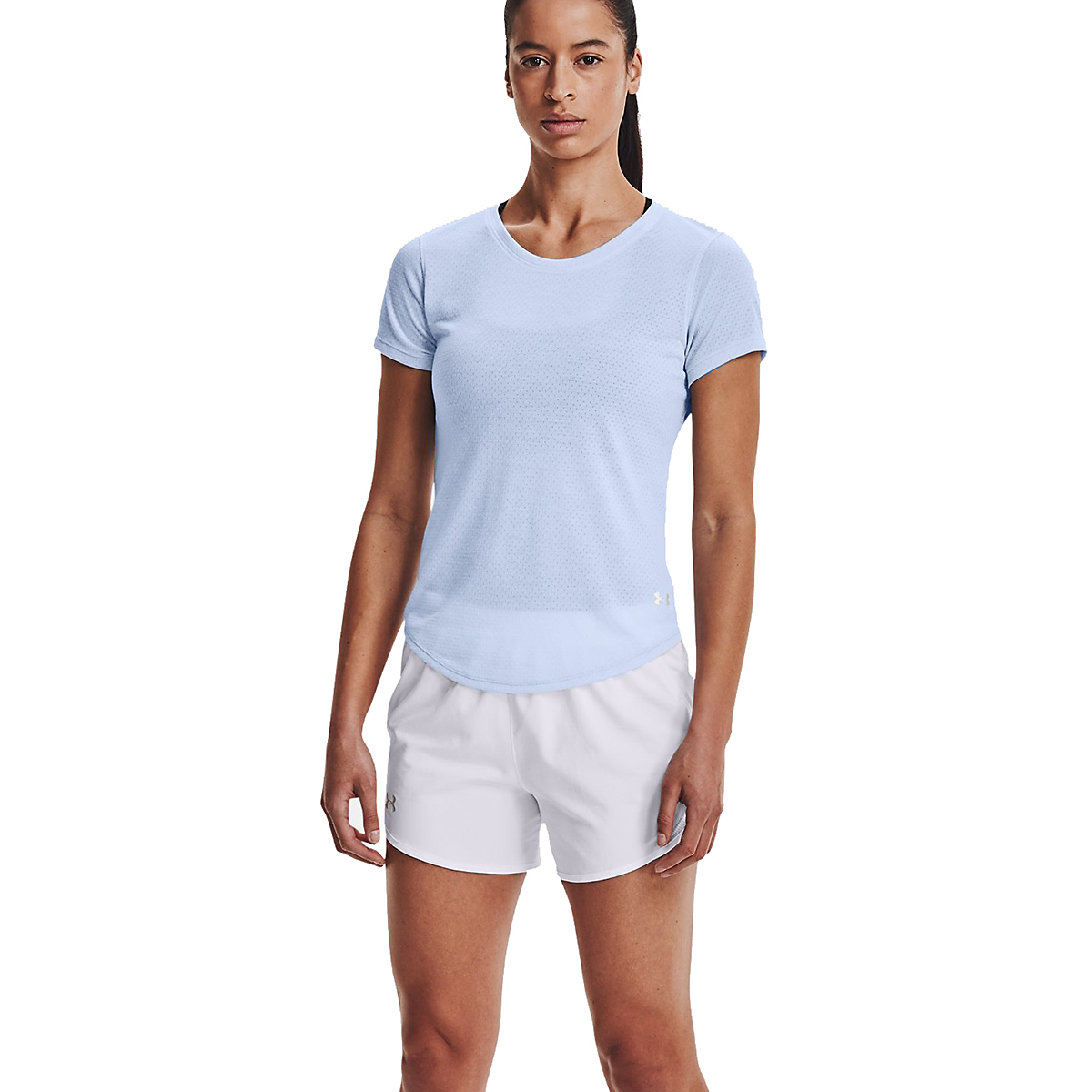 Women's Under Armour Streaker Short Sleeve - Color: Isotope Blue - Size: S, Isotope Blue, large, image 1