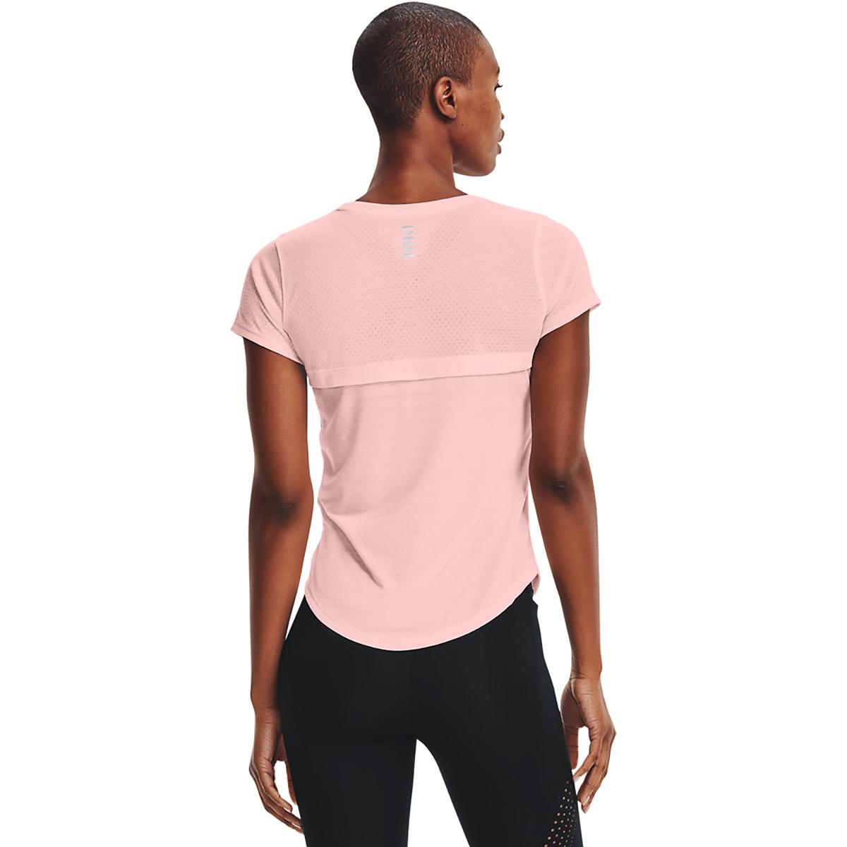 Women's Under Armour Streaker Run Short Sleeve - Color: Beta Tint/ Beta - Size: XS, Beta Tint/ Beta, large, image 2
