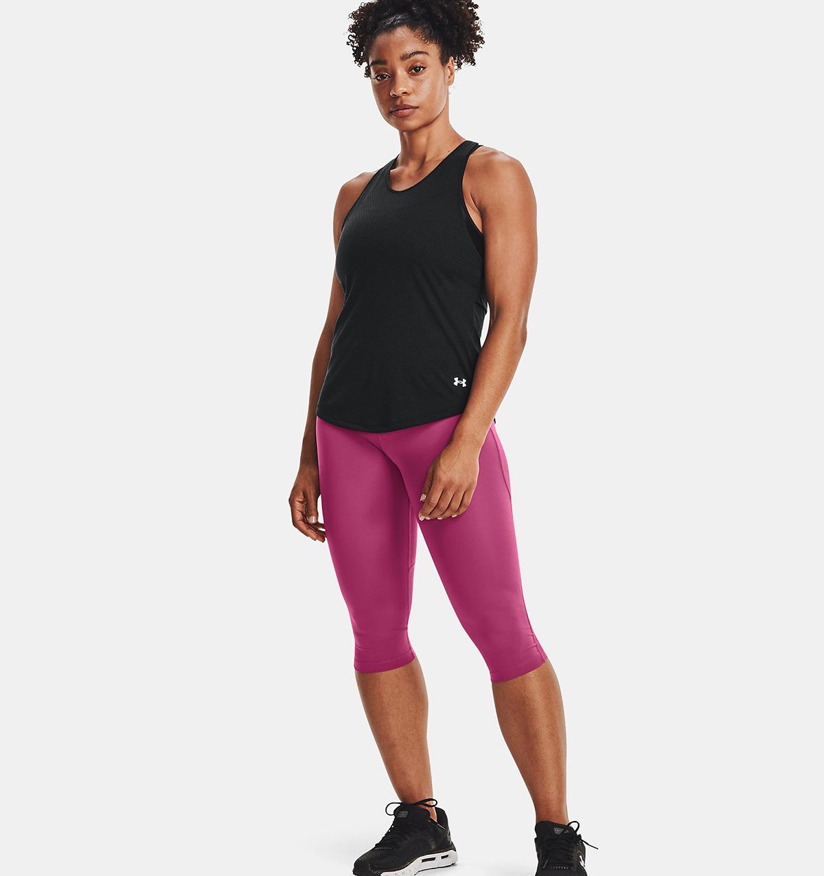 Women's Under Armour Streaker Run Tank - Color: Black/Black/Reflective - Size: XS, Black/Black/Reflective, large, image 1